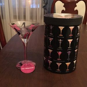 🍸NIB - Lolita Shopaholic Martini Glass🍸